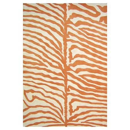Tylersburg Hand-Woven Orange Area Rug Rug Size: Rectangle 4' x 6'