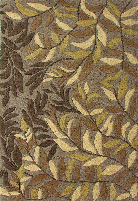 Winston Hand-Woven Green Area Rug Rug Size: 8' x 10'