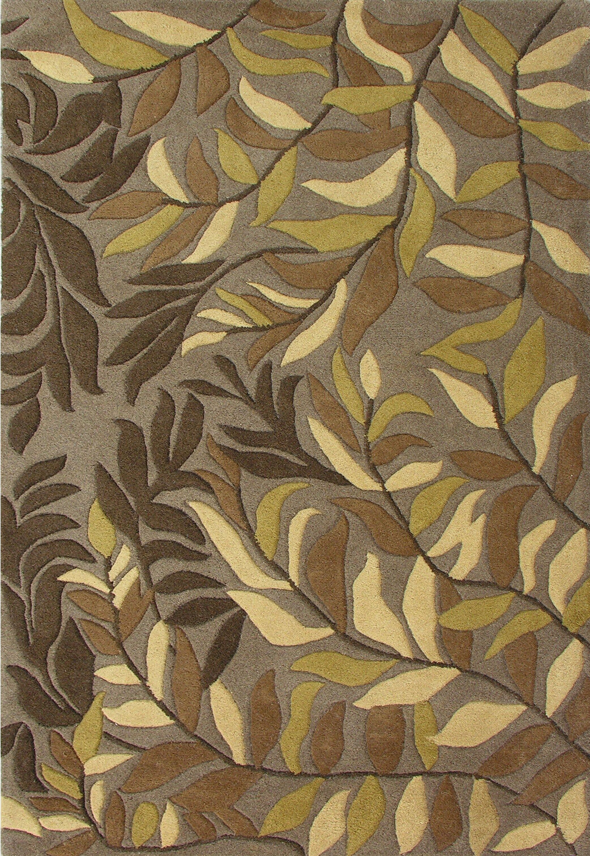 Winston Hand-Woven Green Area Rug Rug Size: 5' x 8'