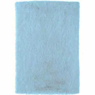 Samantha Hand-Tufted Faux Sheepskin Blue Area Rug Rug Size: Rectangle 5' x 7'