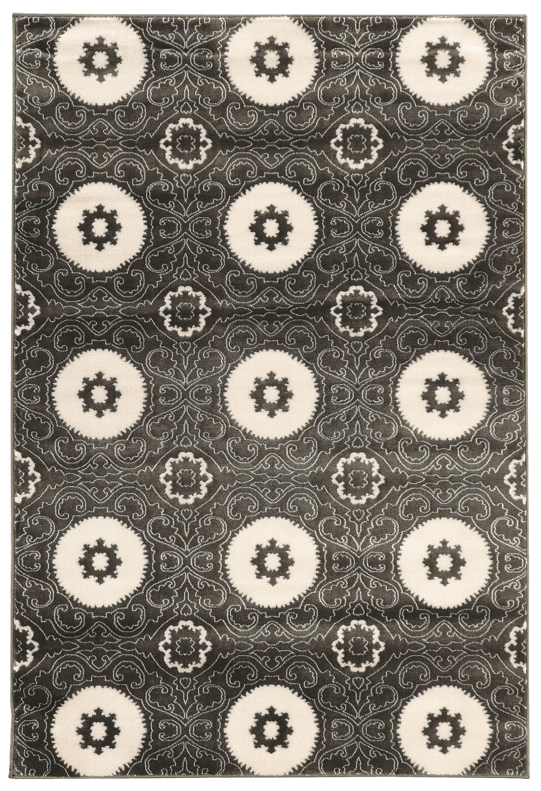 Lucinda Charcoal Area Rug Rug Size: Rectangle 2' x 3'