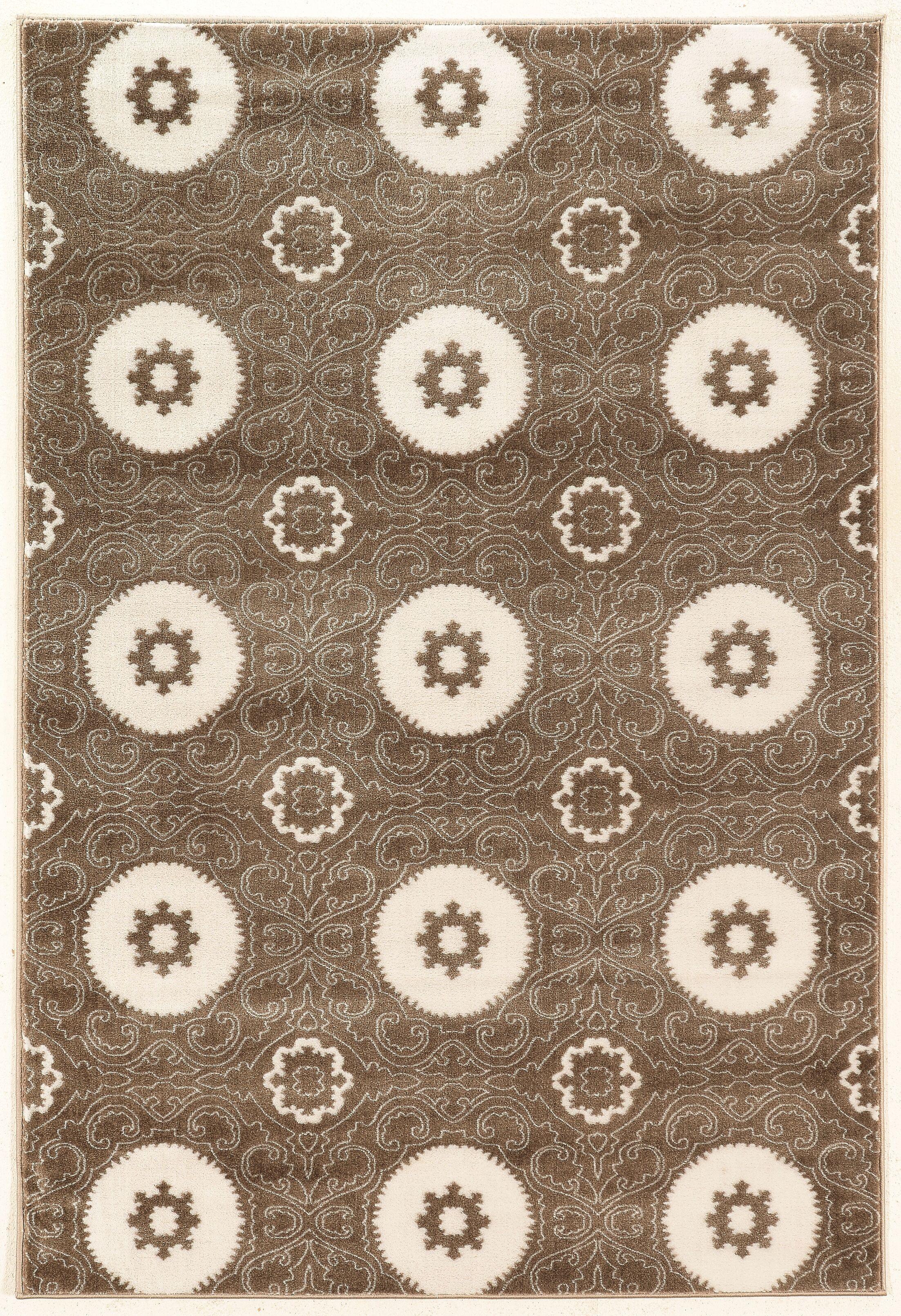 Lucinda Dark Brown Area Rug Rug Size: Rectangle 5' x 7'