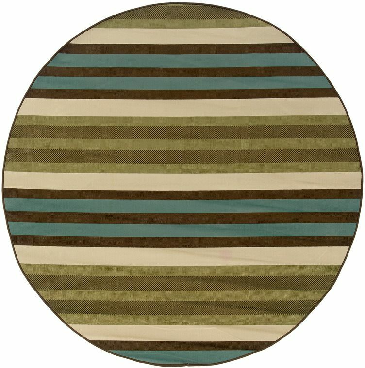 Brendel Green/Blue Indoor/Outdoor Area Rug Rug Size: Round 7'10