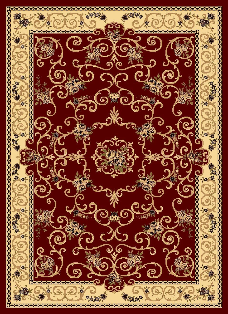 Gloucester Red Area Rug Rug Size: Rectangle 9'10