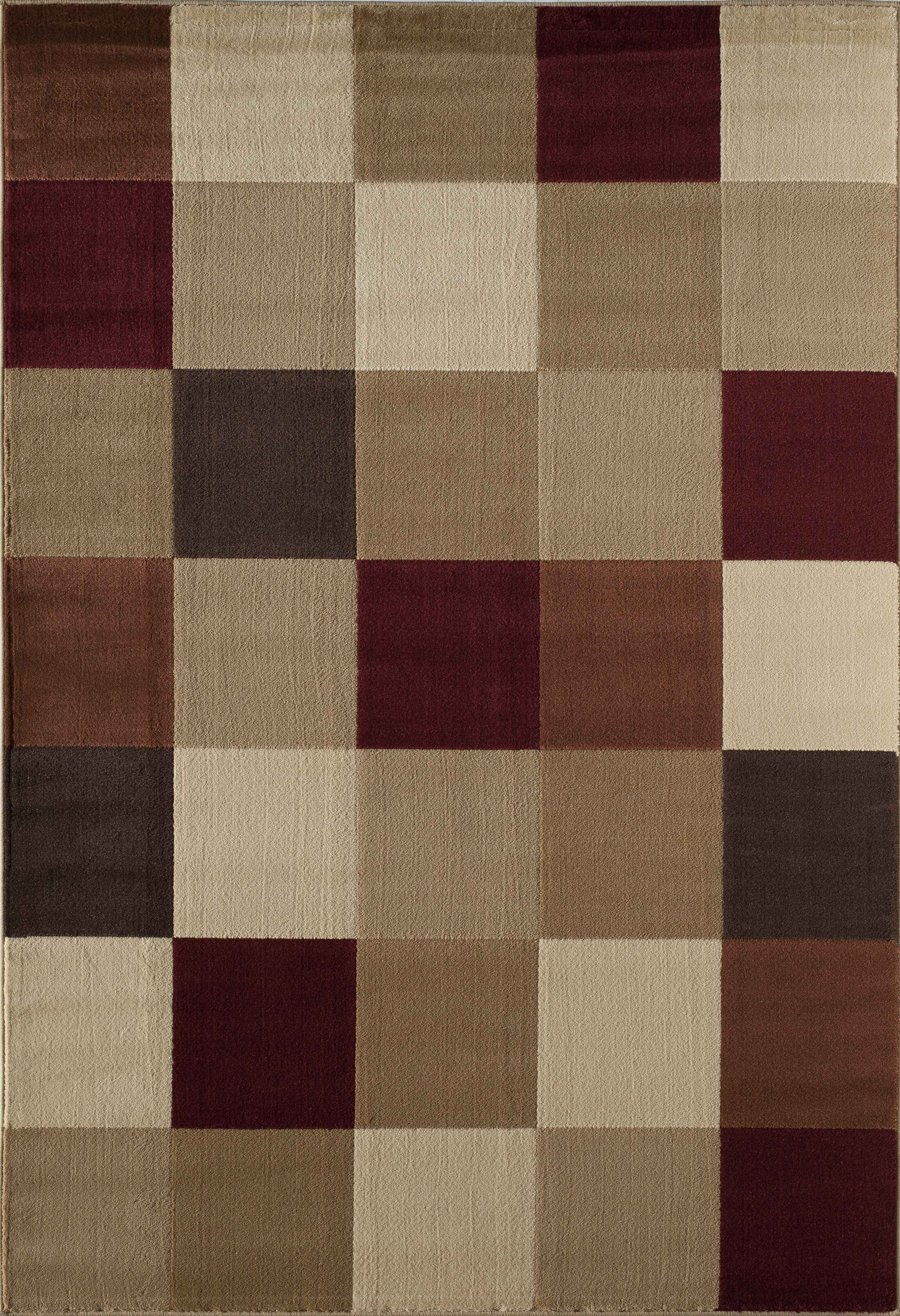 Allston Natural/Brown Area Rug Rug Size: Rectangle 7'10