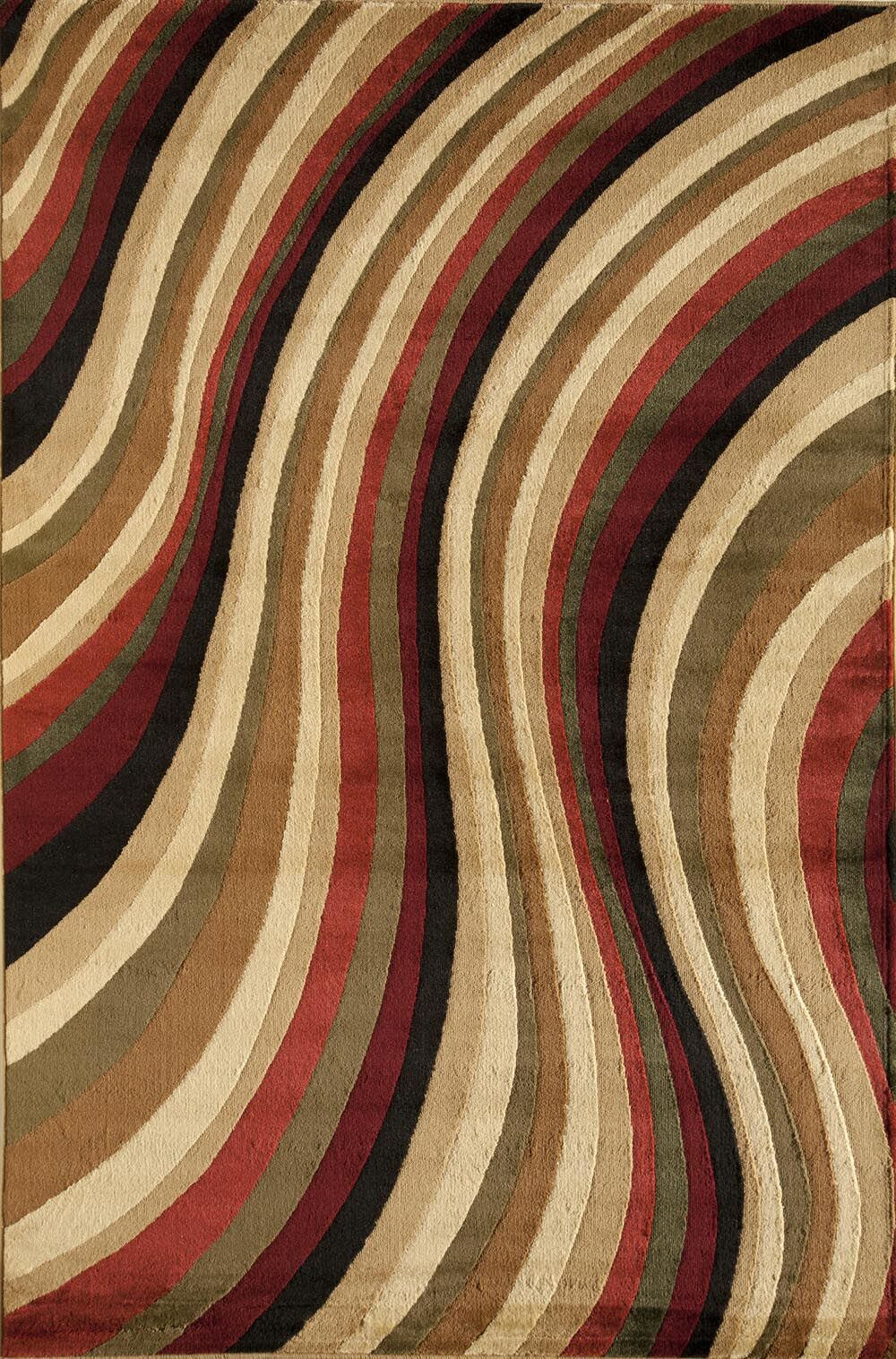 Allston Red/Brown Area Rug Rug Size: Rectangle 3'11