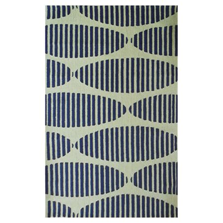 Wolcott Hand-Hooked Navy/Green Area Rug Rug Size: Rectangle 5' x 7'