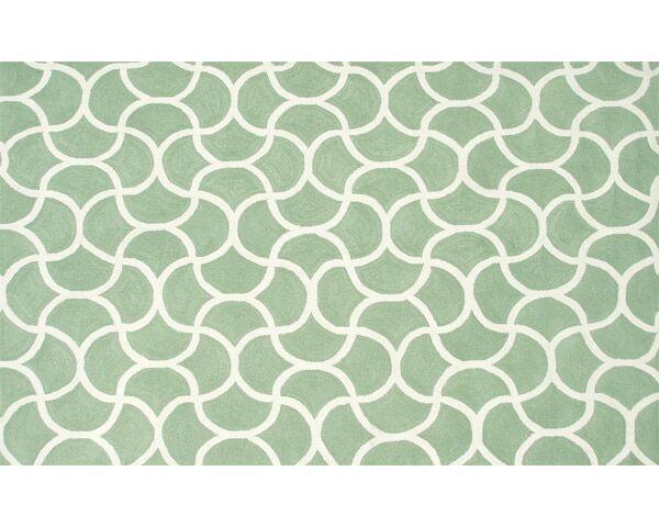 Raymond Hand-Hooked Green Indoor/Outdoor Area Rug Rug Size: Rectangle 5' x 7'6