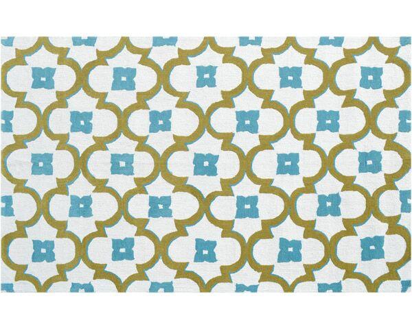 Newstead Hand-Hooked Blue/Green Indoor/Outdoor Area Rug Rug Size: Rectangle 7'6
