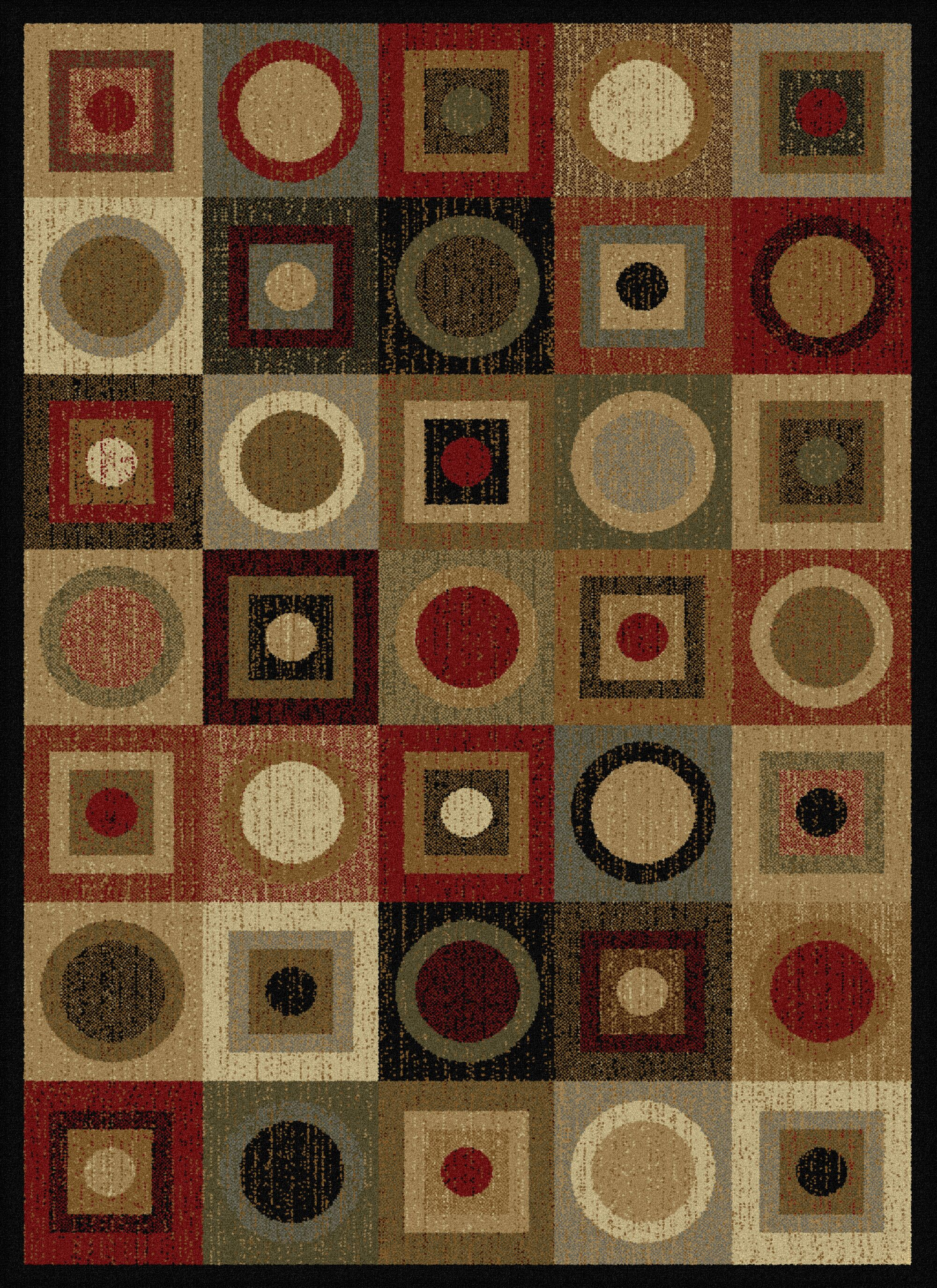 Colette Geometric Red/Brown Area Rug Rug Size: 5' x 7'