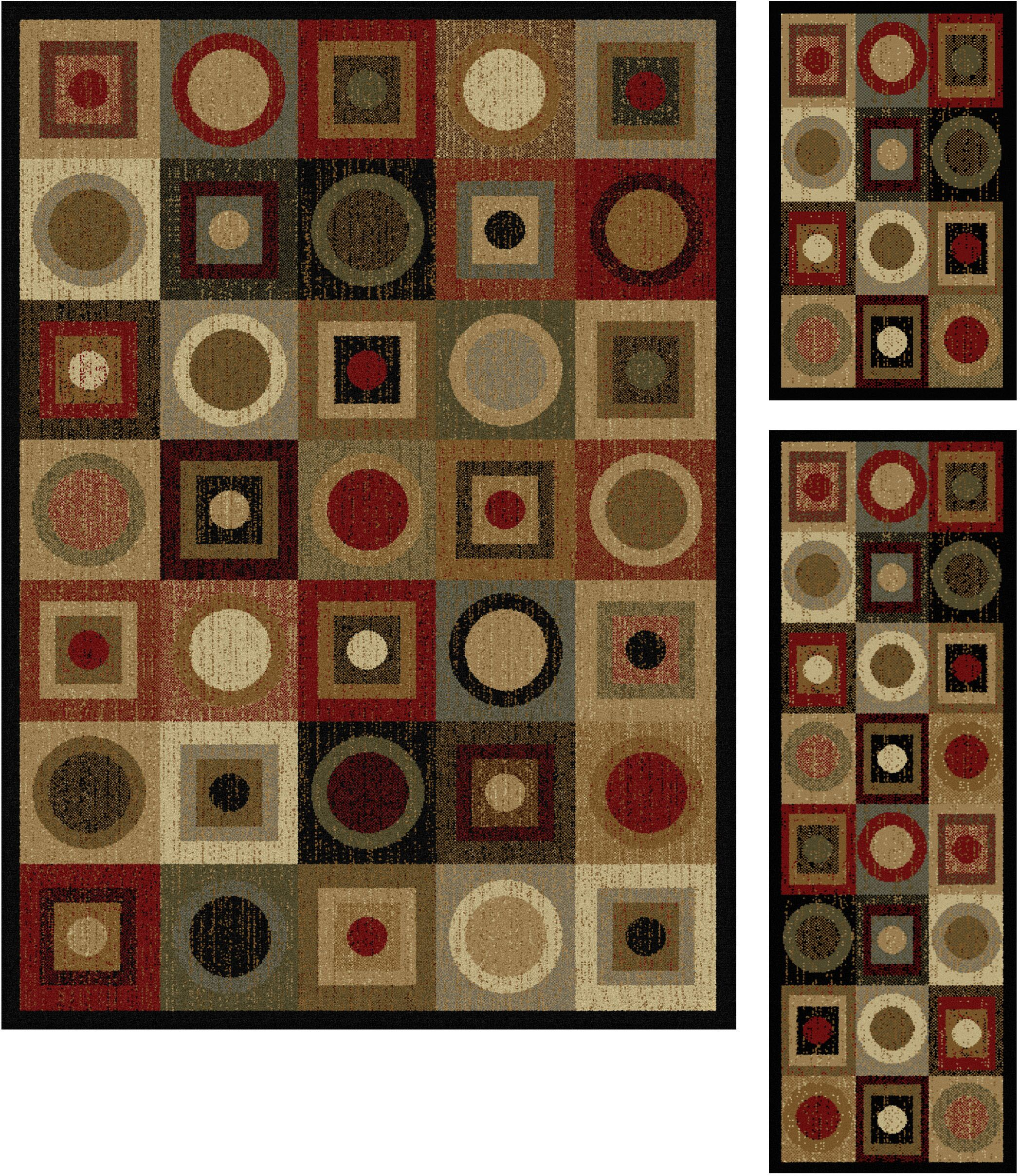 Colette Geometric Red/Brown Area Rug Rug Size: 5' x 7', 20'' x 60'', 20'' x 32''