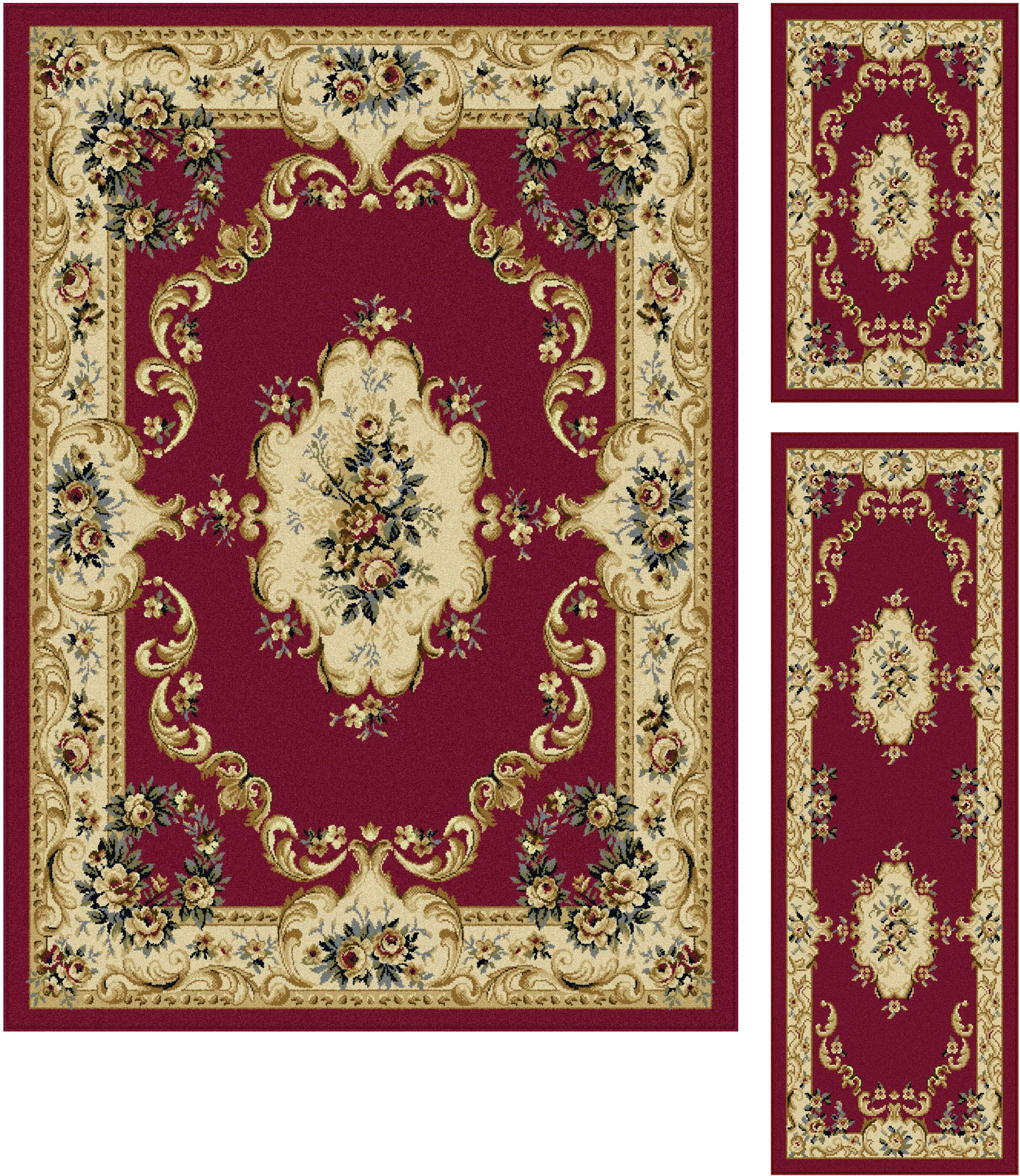 Larios 3 Piece Red Area Rug Set Rug Size: 5' x 7', 20'' x 60'', 20'' x 32''