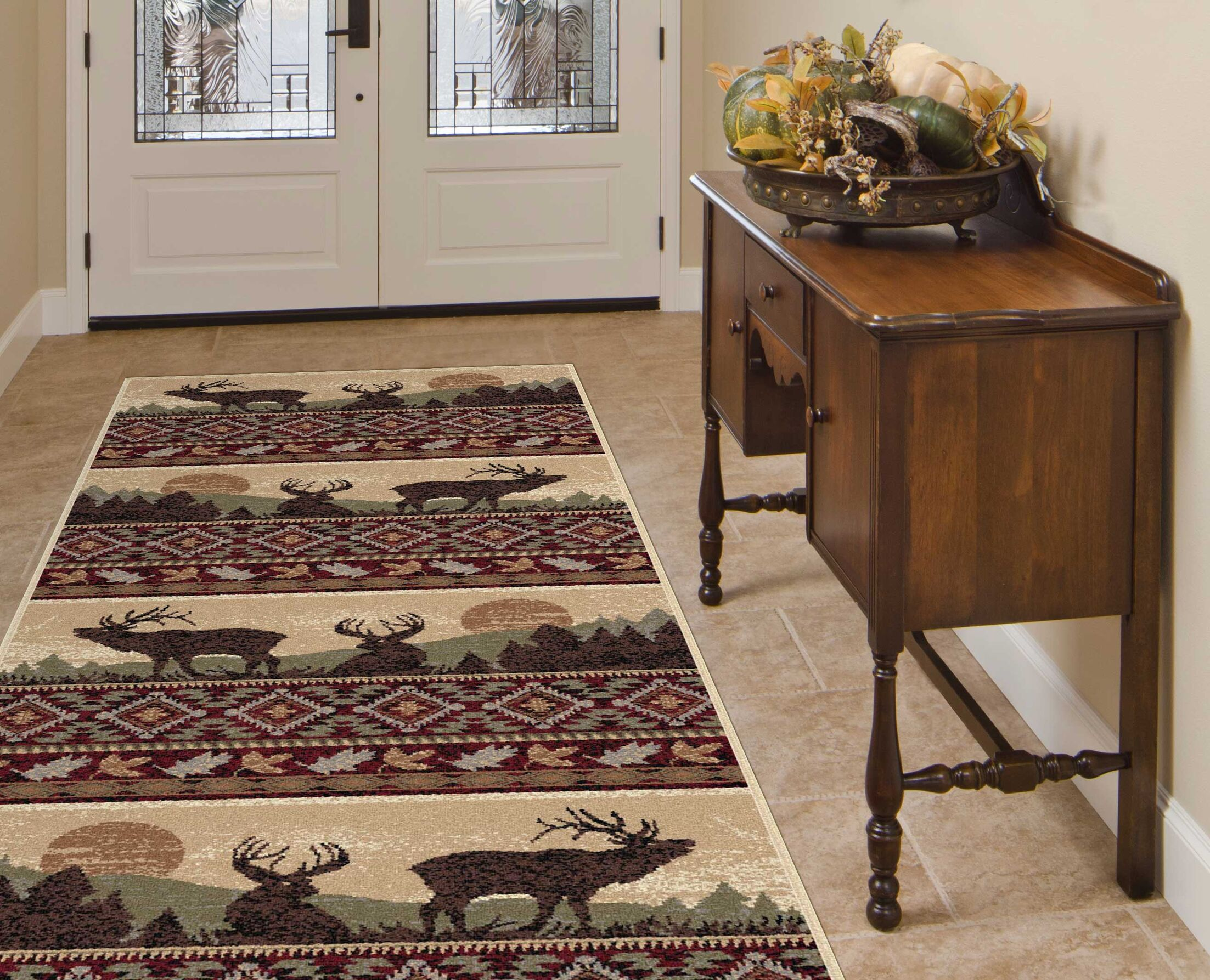 Alers Red/Brown Area Rug Rug Size: 2'7'' x 7'3''