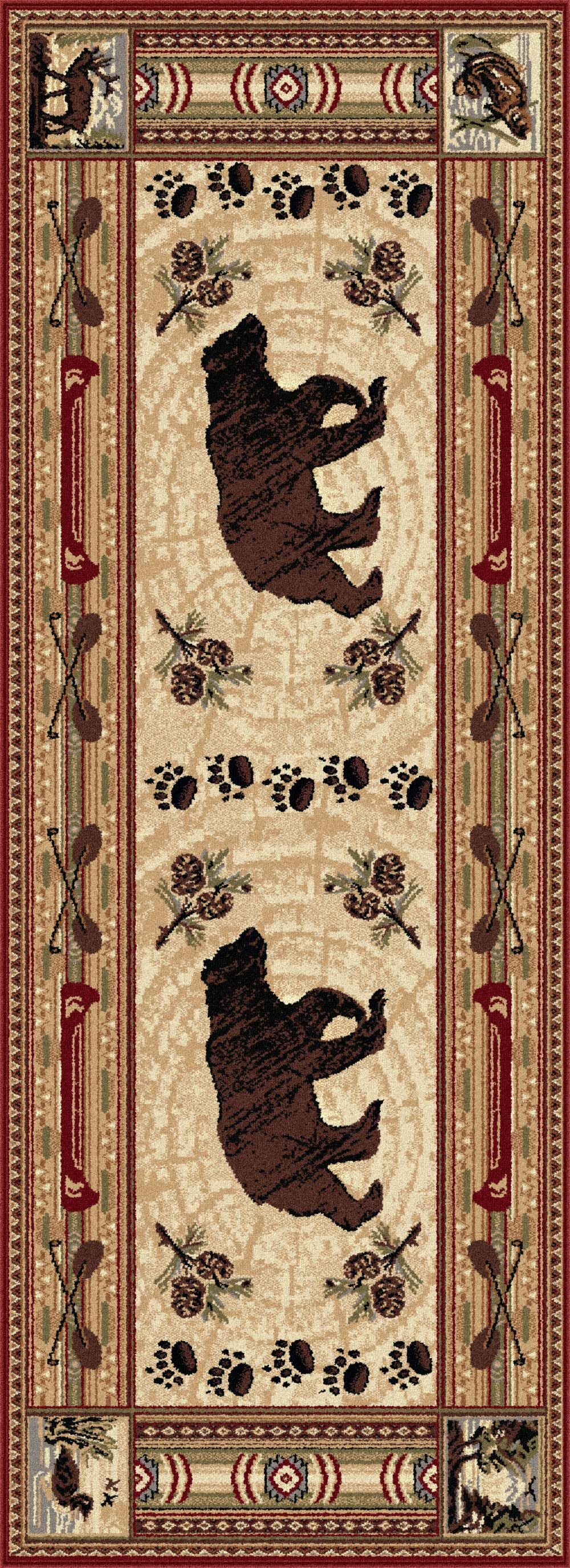 Russel Brown Area Rug Rug Size: 2'7'' x 7'3''