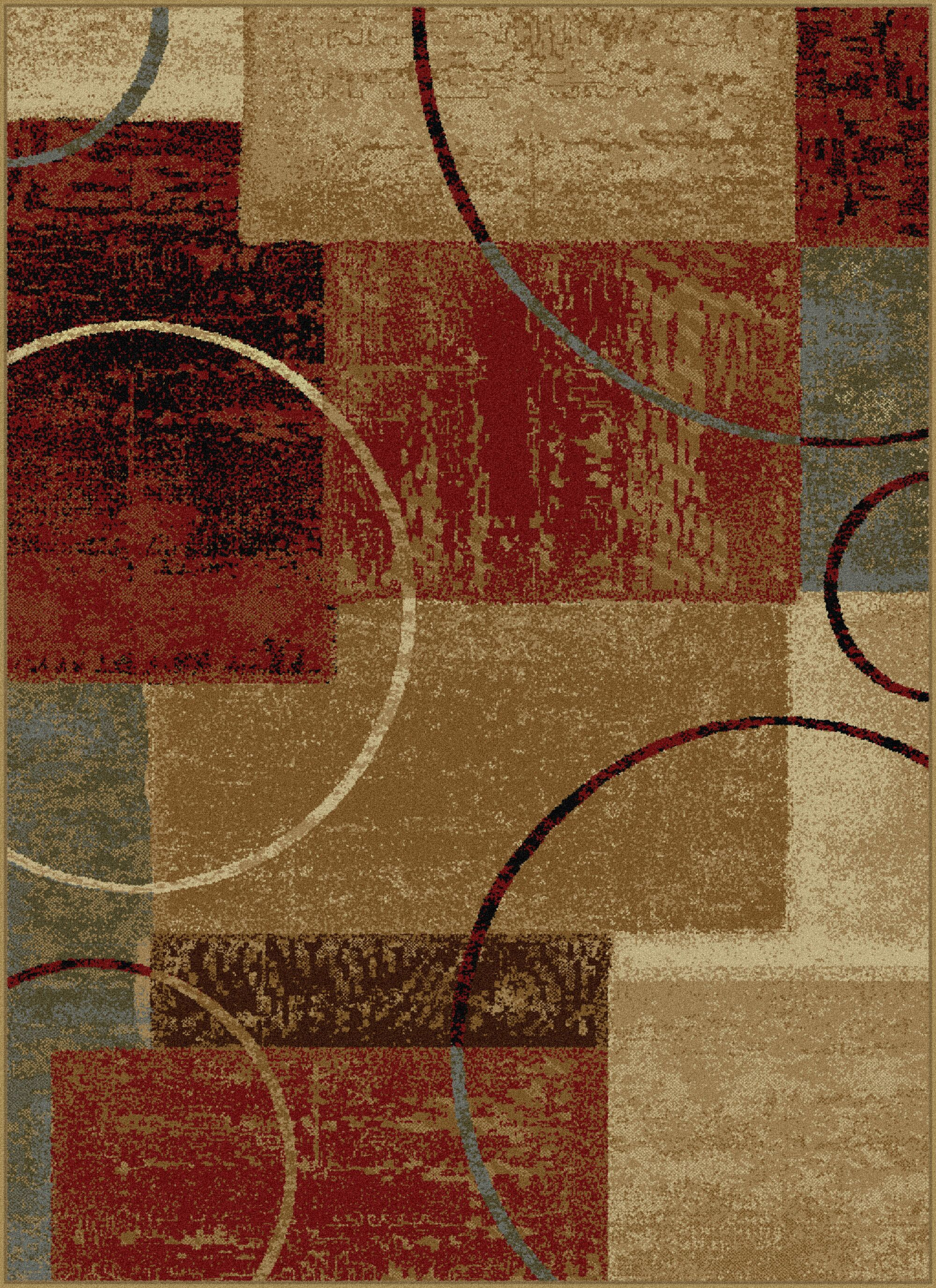 Colette Abstract Red/Brown Area Rug Rug Size: 5' x 7'