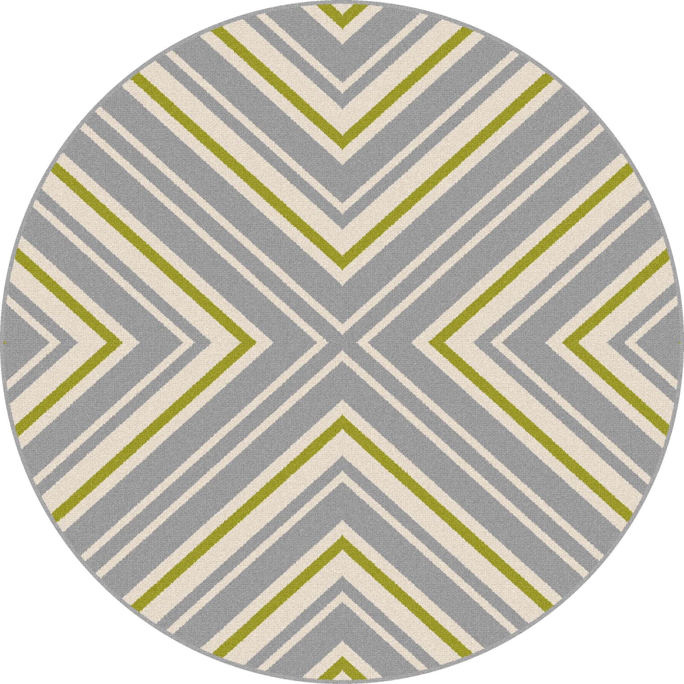 Martinique Gray Area Rug Rug Size: 7'10'' Round