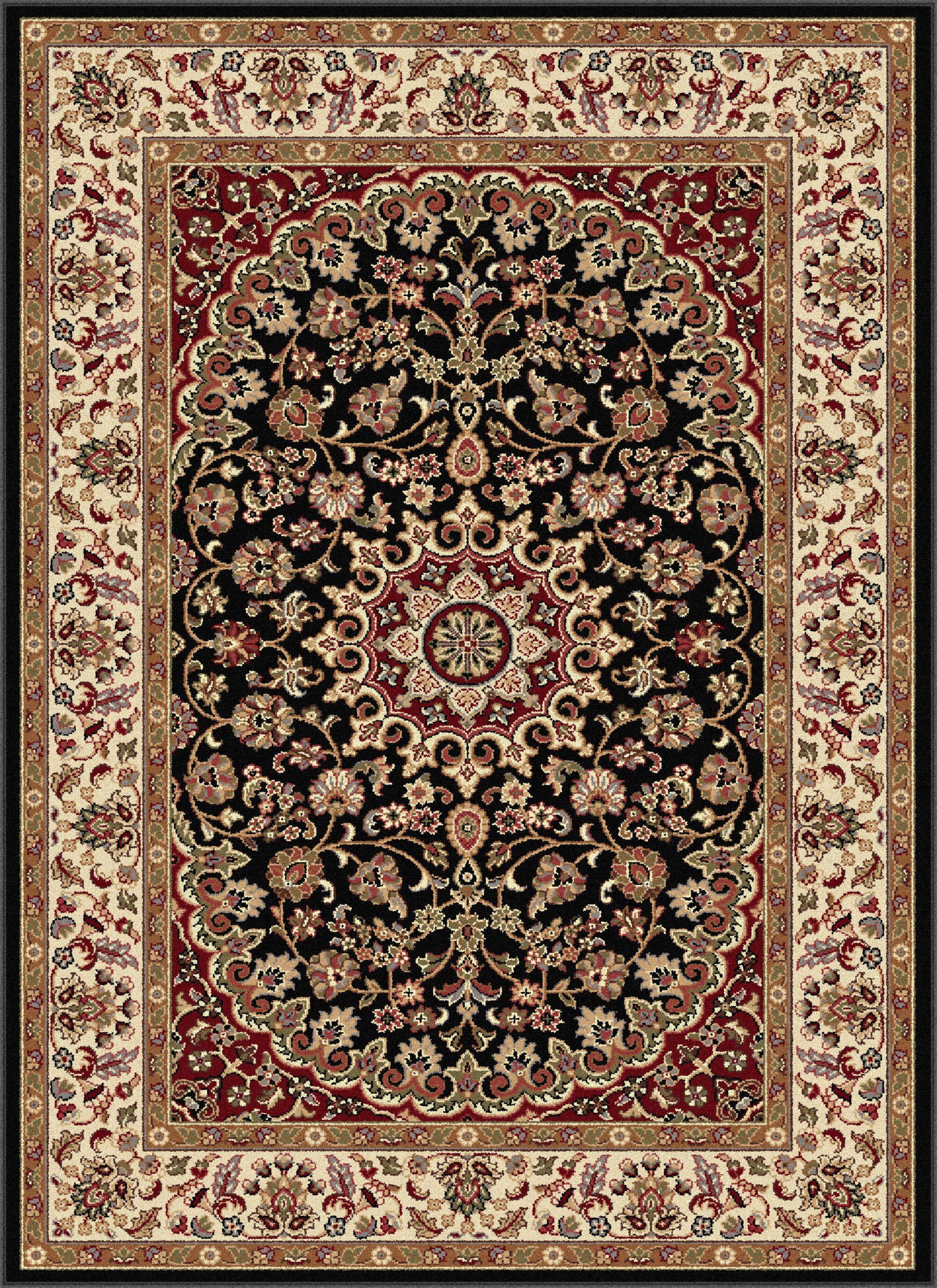Langlee Black/Red Area Rug Rug Size: 9'3'' x 12'6''