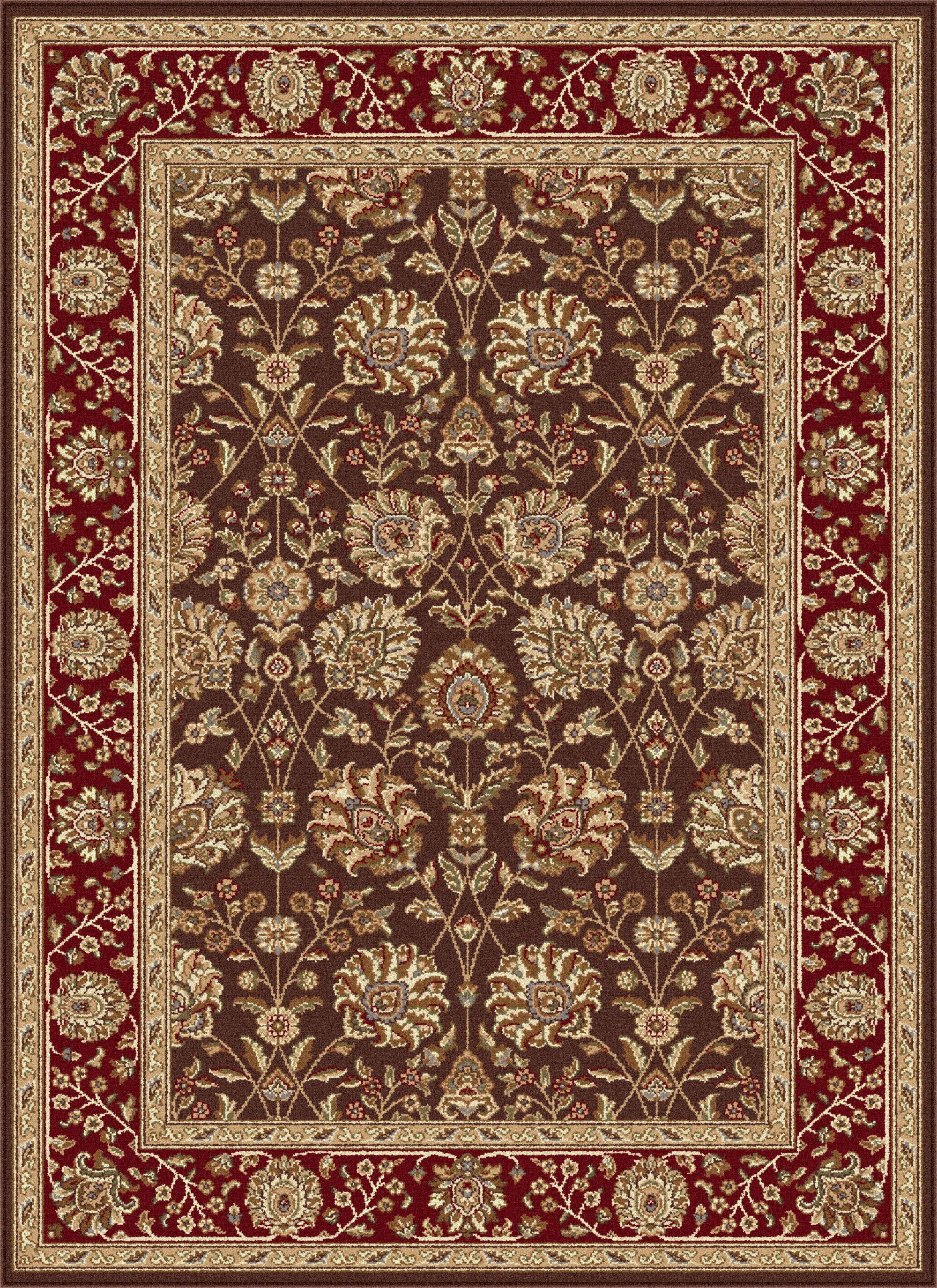 Langlee Brown/Red Area Rug Rug Size: 7'6'' x 9'10''
