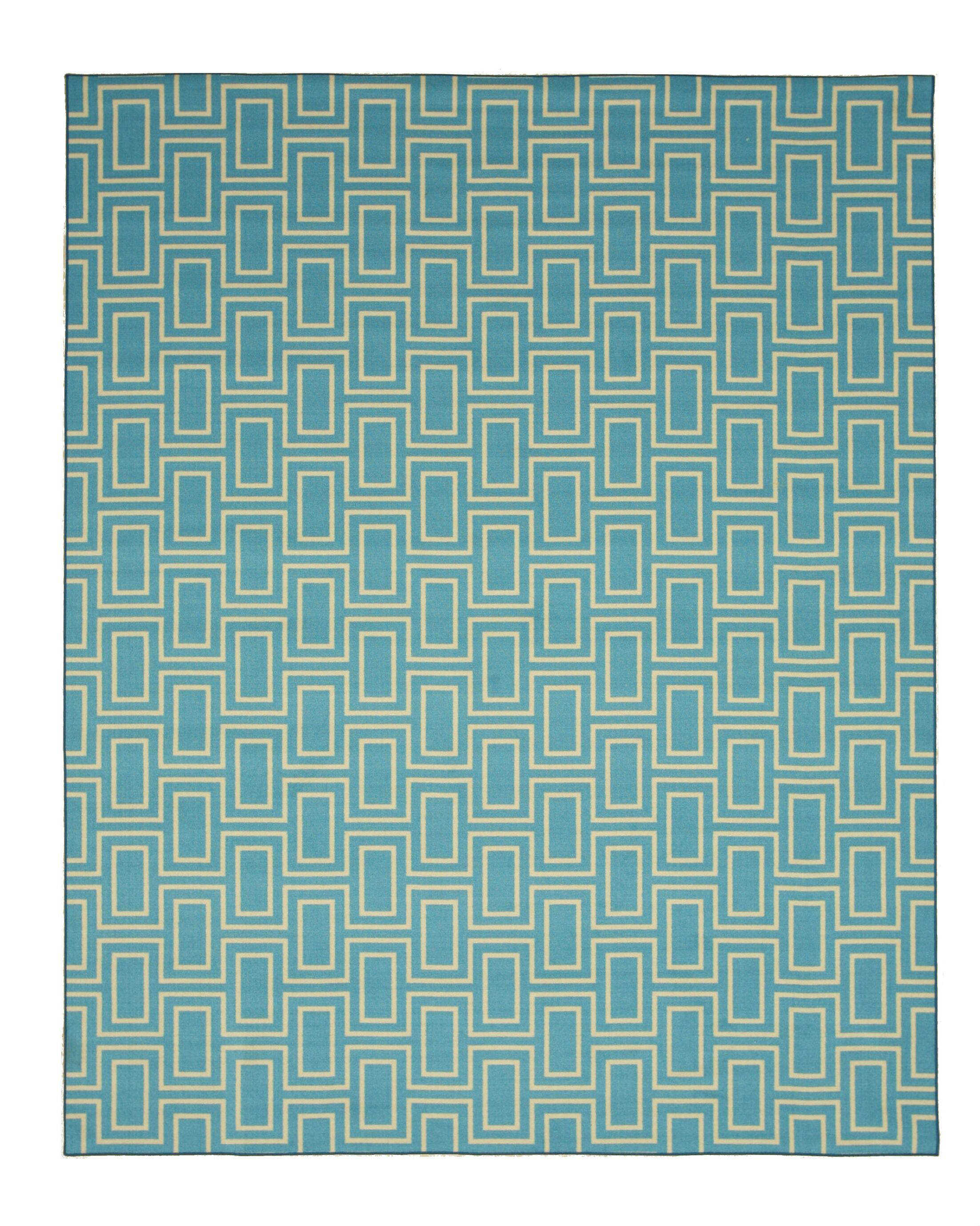Allison Blue Area Rug Rug Size: Rectangle 5'3