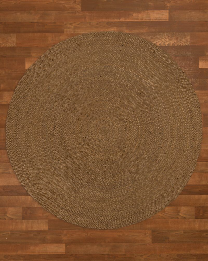 Wellesley Hand-Woven Brown Area Rug Rug Size: Round 5'