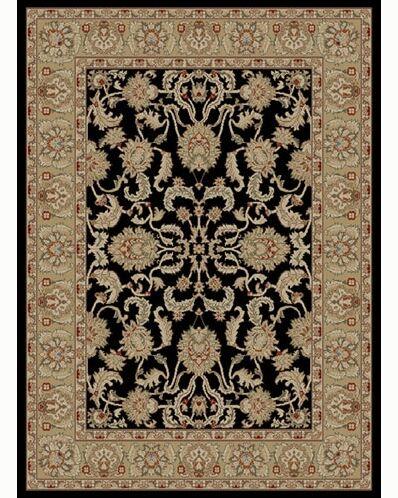 Ankara Oushak Black Rug Rug Size: Rectangle 5'3