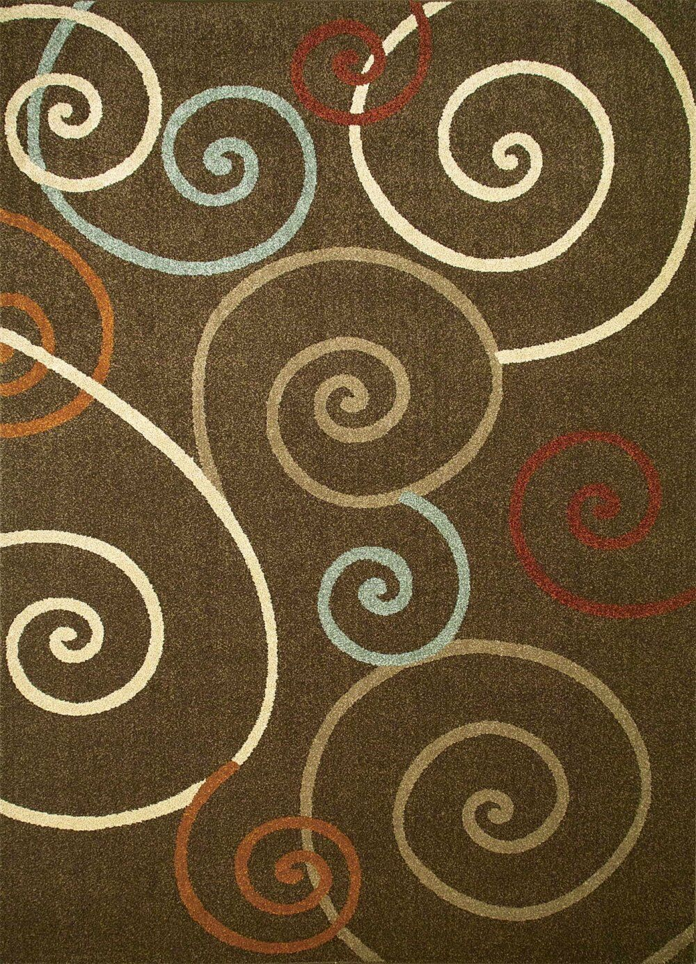 Chester Brown Scroll Area Rug Rug Size: Rectangle 7'10