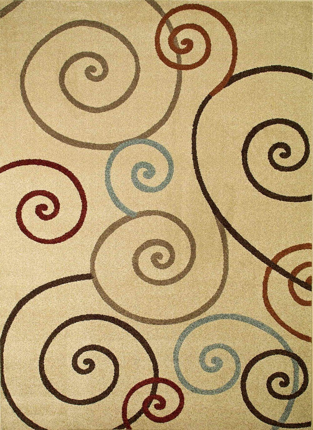 Chester Ivory Scroll Area Rug Rug Size: Rectangle 6'7
