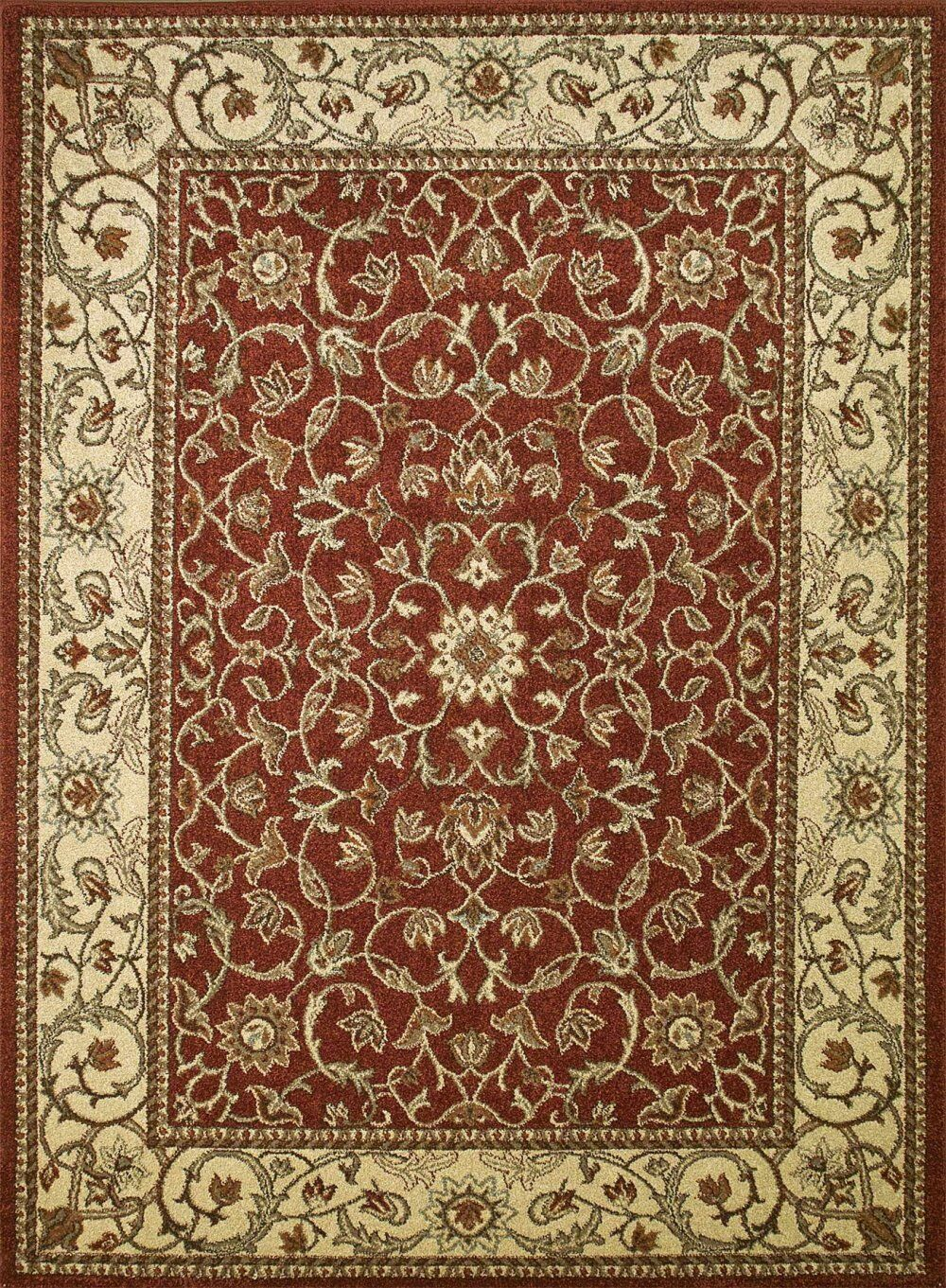 Chester Flora Red Rug Rug Size: Rectangle 6'7
