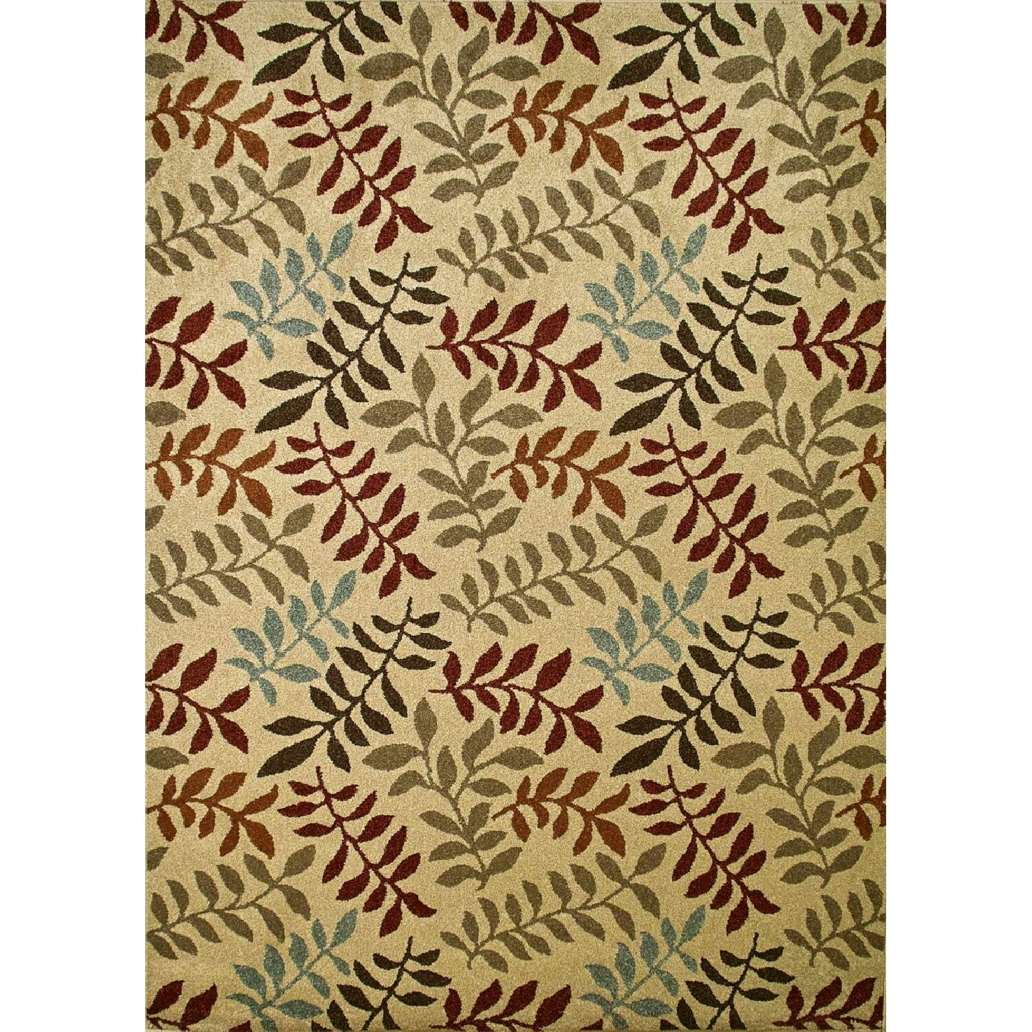 Chester Ivory Leafs Area Rug Rug Size: Rectangle 3'3