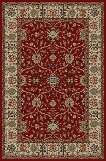 Jewel Voysey Red Floral Area Rug Rug Size: Rectangle 6'7