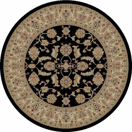 Jewel Antep Black Area Rug Rug Size: Round 5'3