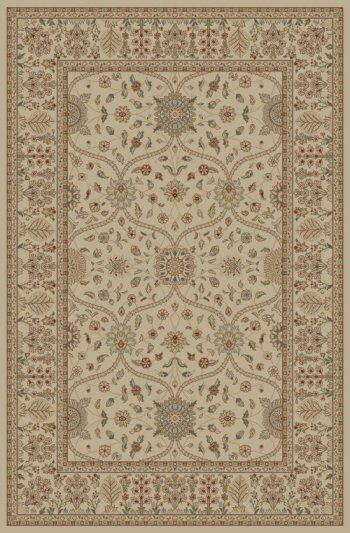 Jewel Voysey Ivory/Tonel Floral Area Rug Rug Size: Rectangle 9'3