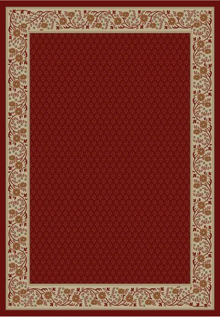 Jewel Harmony Red Area Rug Rug Size: Rectangle 6'7