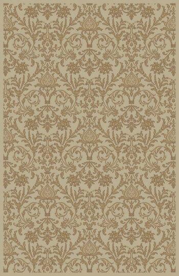 Jewel Damask Ivory Area Rug Rug Size: Rectangle 5'3