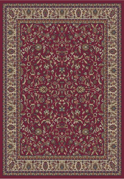Jewel Kashan Red Area Rug Rug Size: Rectangle 5'3