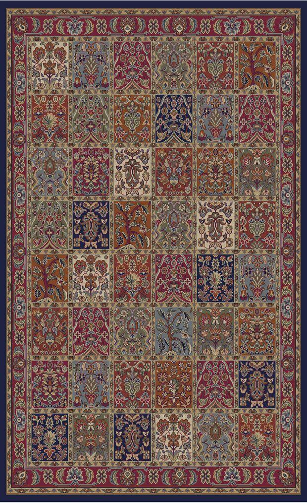Jewel Panel Area Rug Rug Size: 9'3