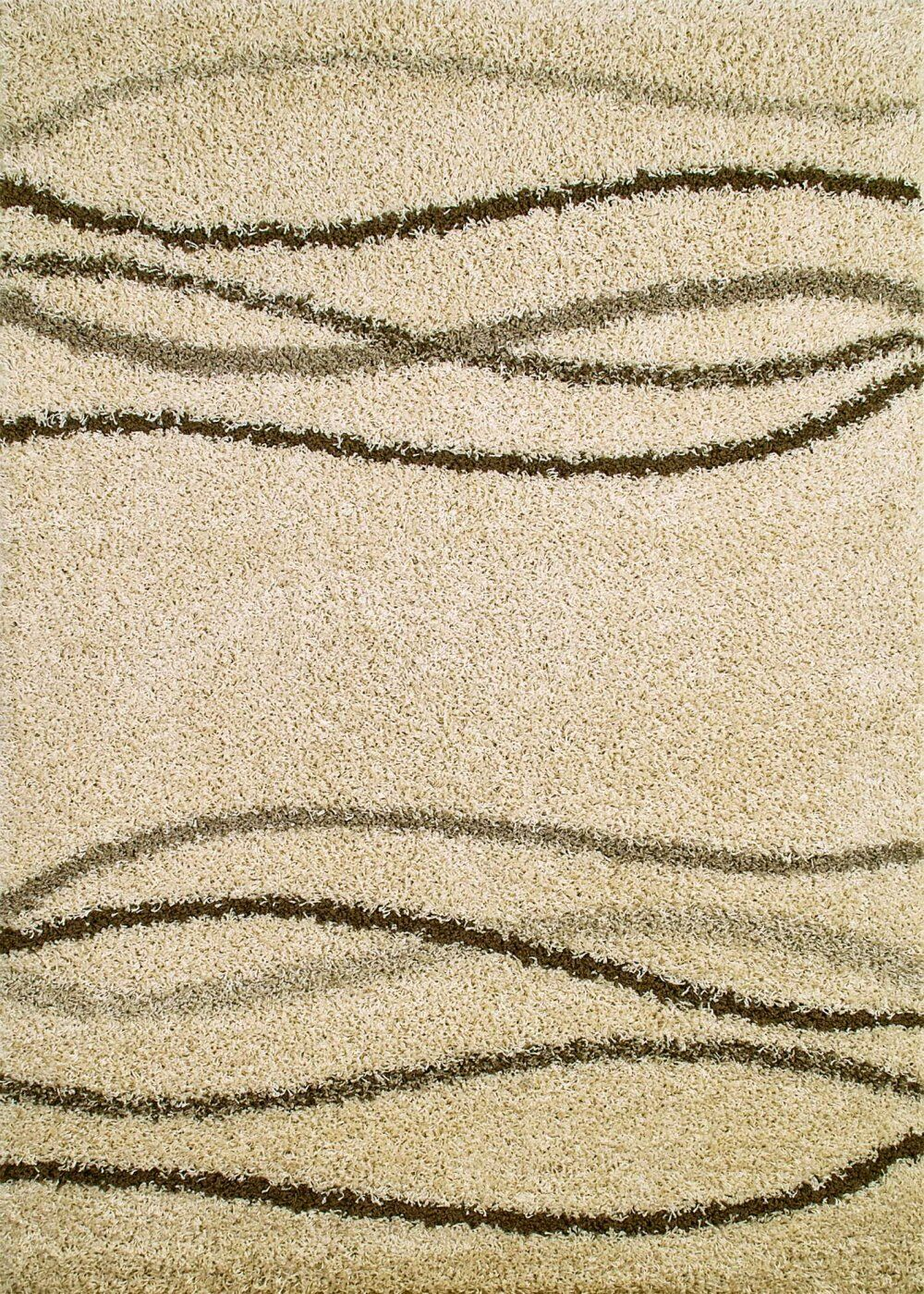 Shaggy Waves Natural Area Rug Rug Size: Rectangle 6'7