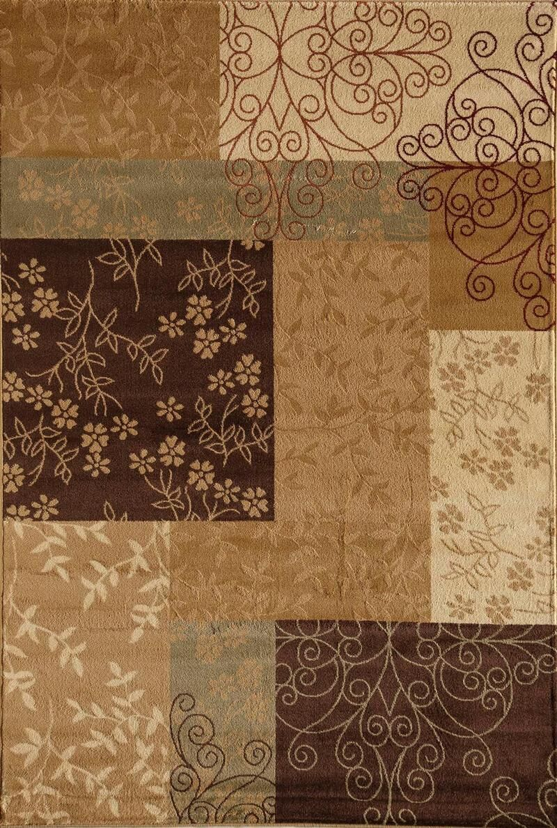 Allston Brown/Tan Area Rug Rug Size: Runner 2'3