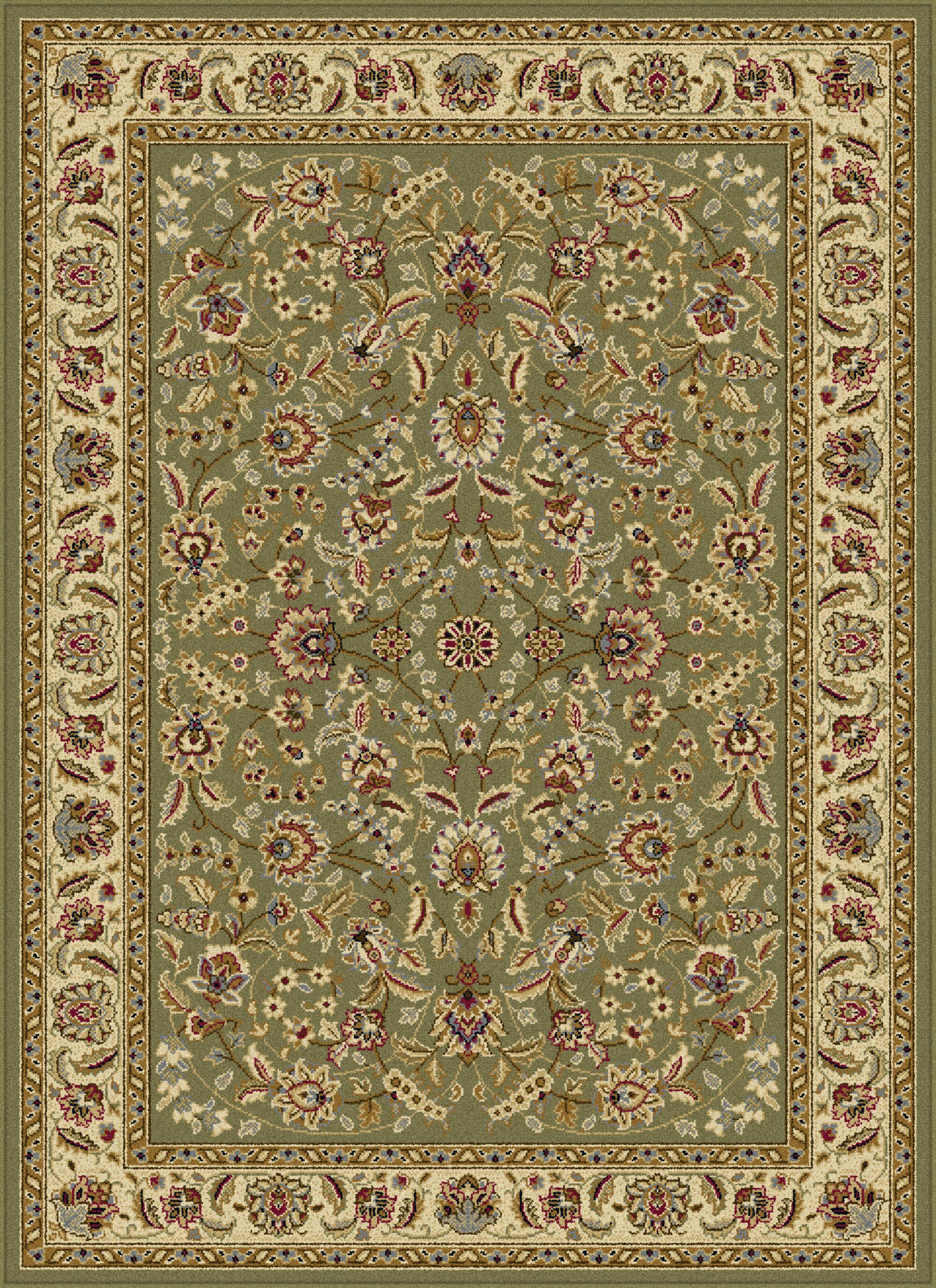Larios Green Area Rug Rug Size: 7'6'' x 9'10''