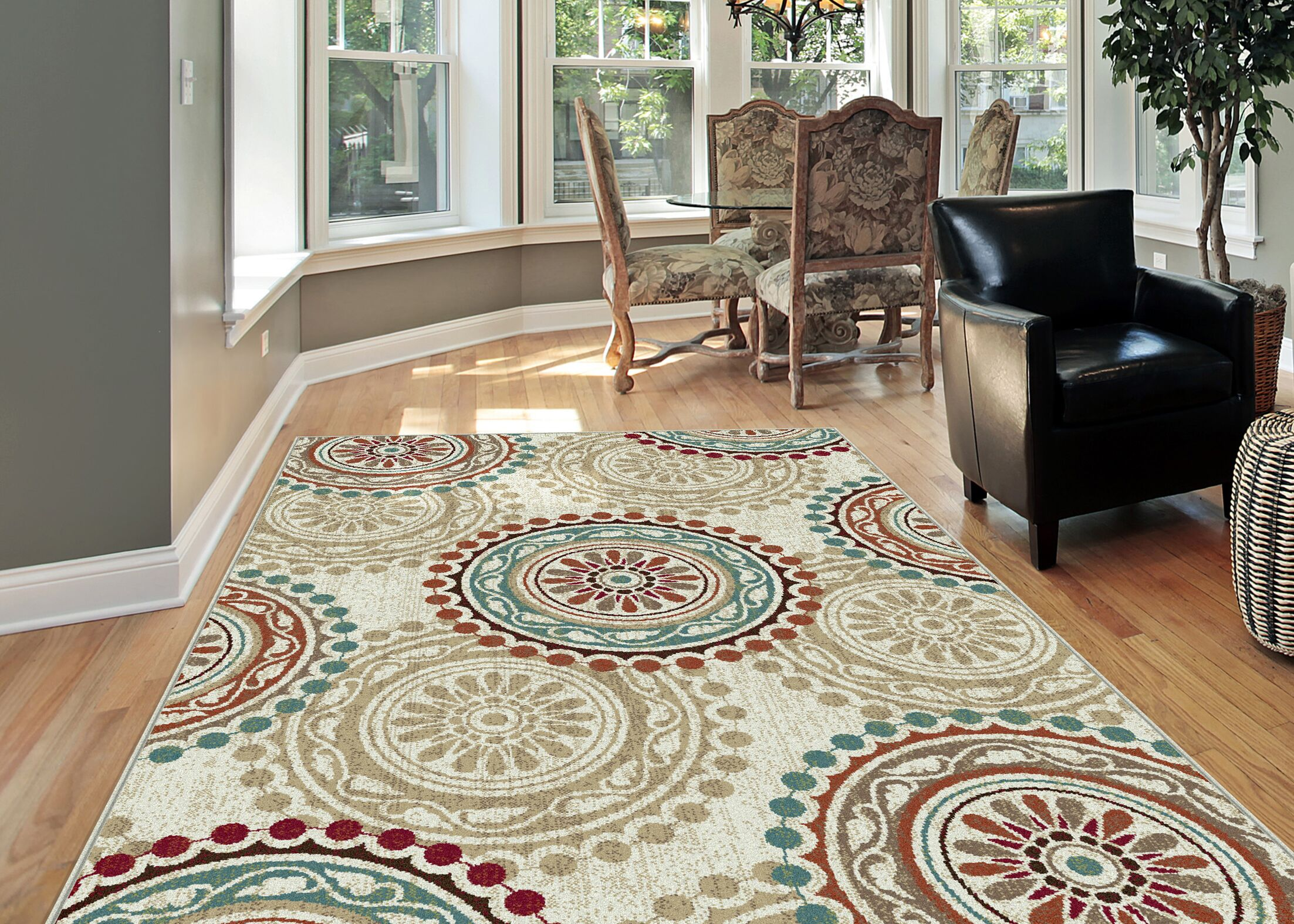 Dripping Springs 3 Piece Ivory Area Rug Set