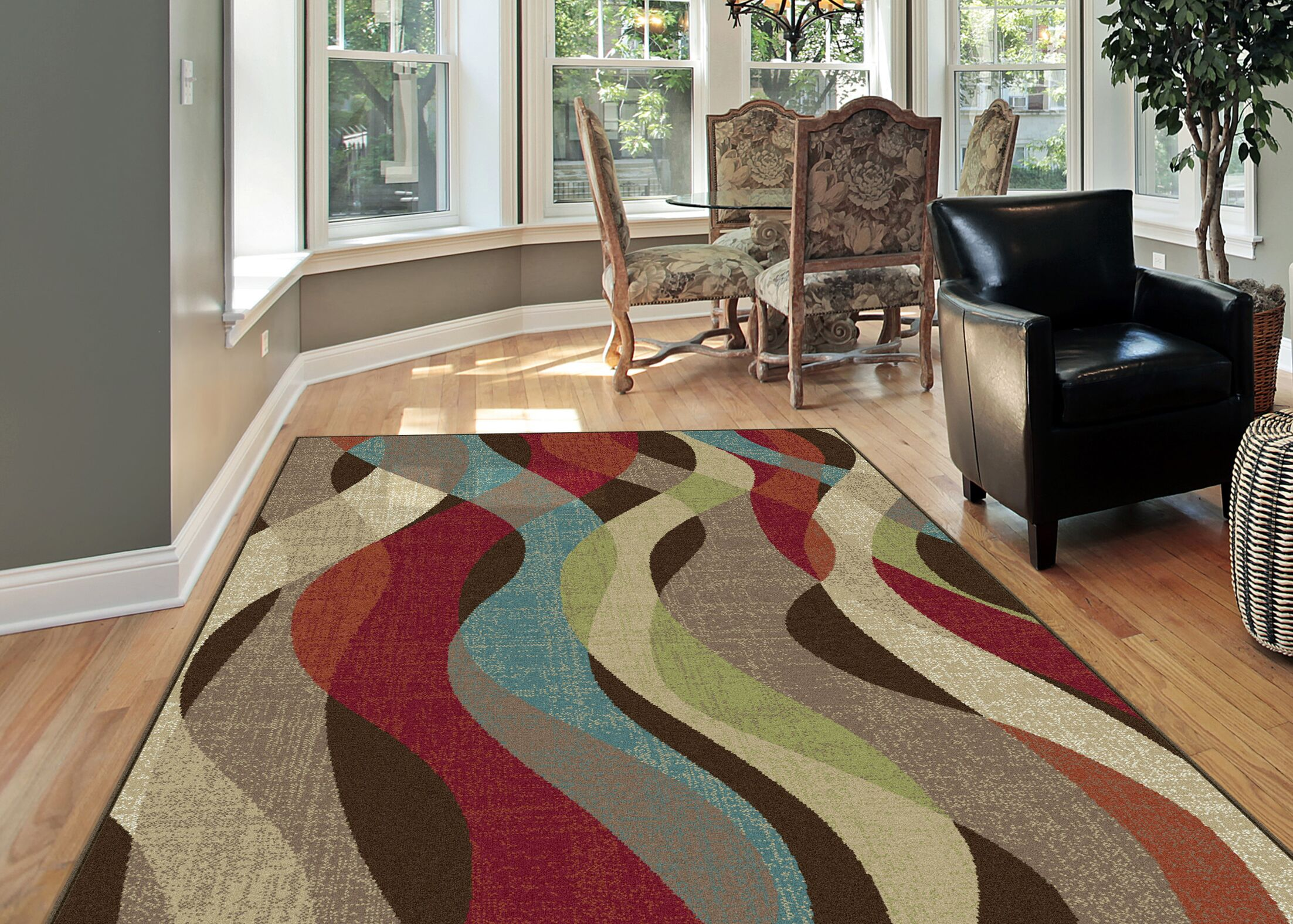 O'Malley Brown Area Rug Rug Size: 5'3'' Round