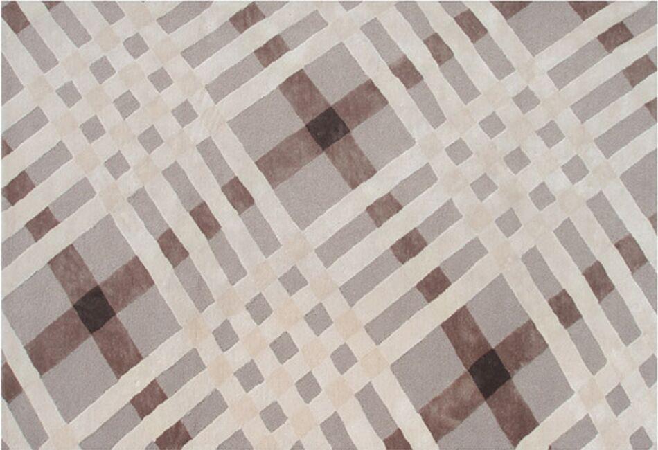 Stella Hand-Tufted Brown/Grey Area Rug Rug Size: 5' x 8'