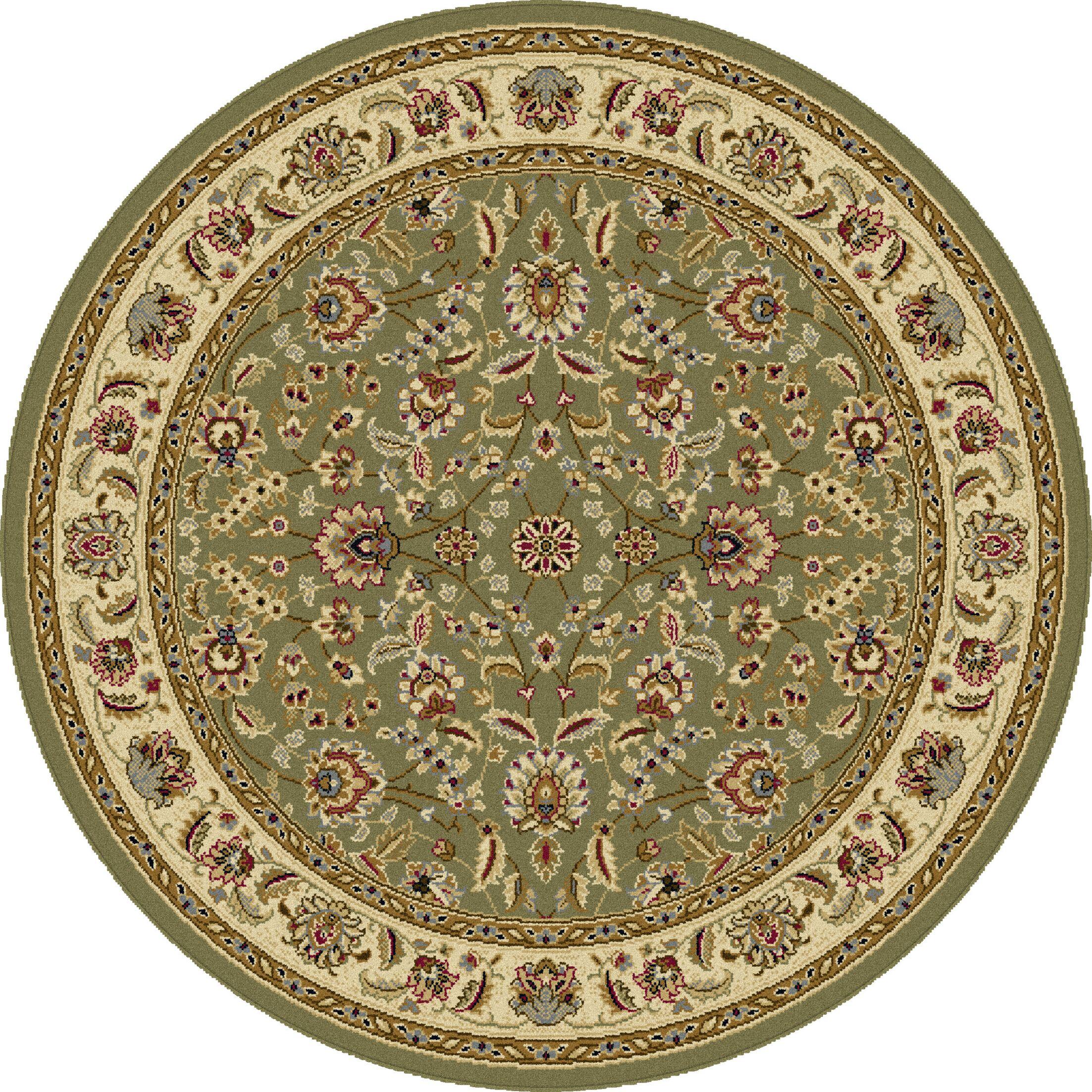 Larios Green Area Rug Rug Size: 7'10'' Round