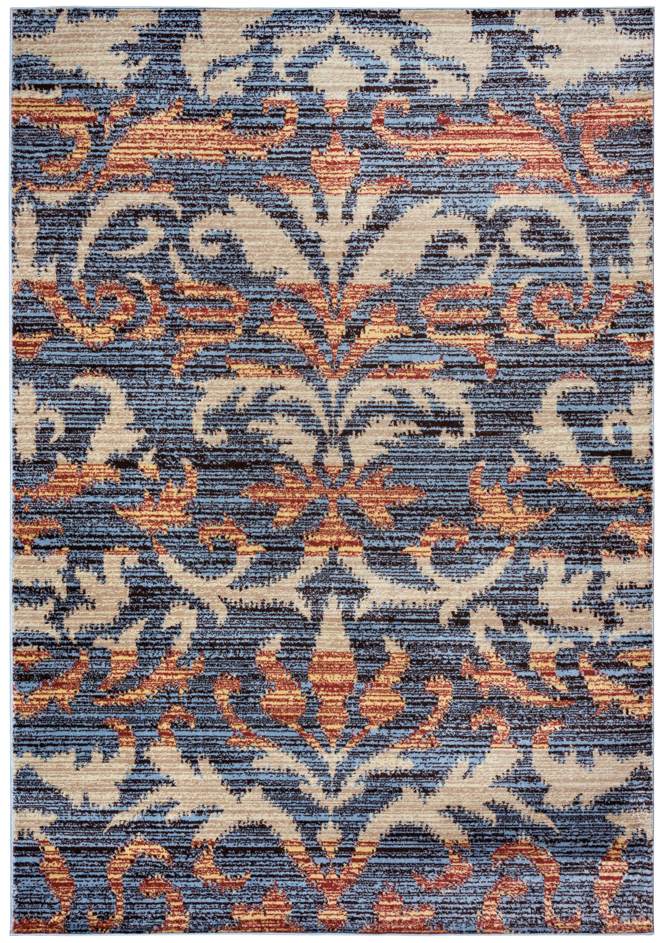 Evangeline Gray Floral/Geometric Area Rug Rug Size: Rectangle 9'2
