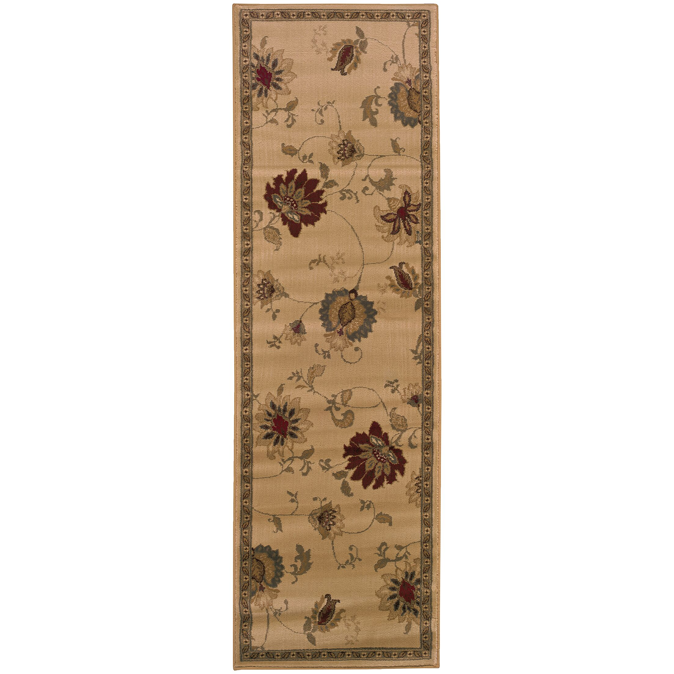 Abell Ivory/Green Area Rug Rug Size: Rectangle 8'2