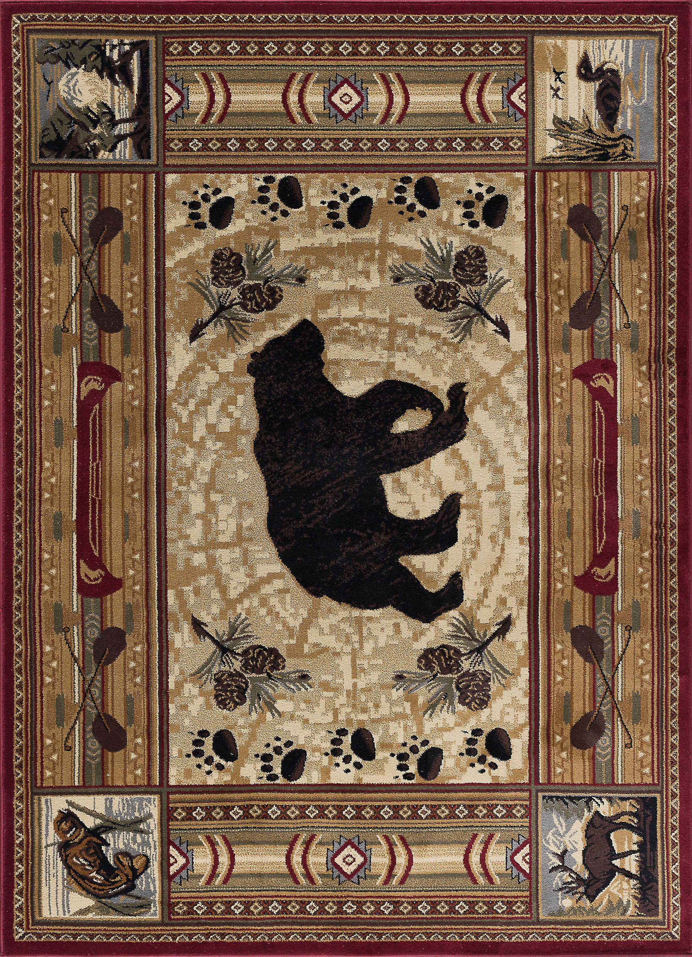Russel Brown Area Rug Rug Size: 5'3'' x 7'3''