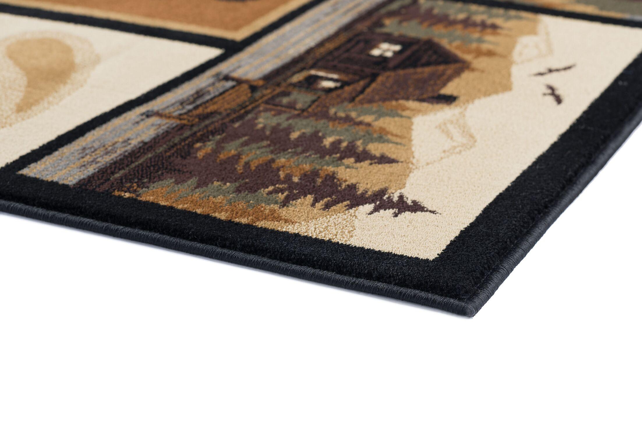 Haddam Brown/Beige Area Rug Rug Size: 7'10'' x 10'3''