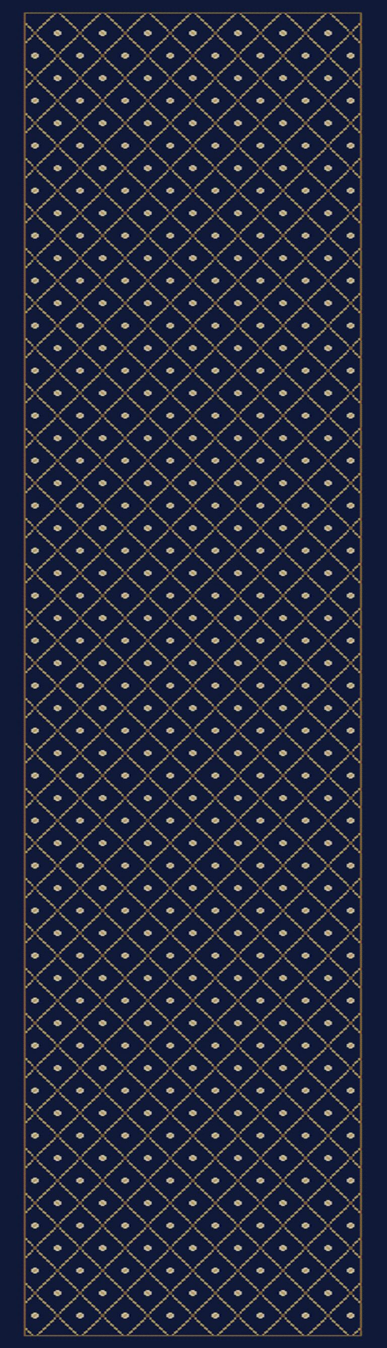 Quill Navy Blue Area Rug Rug Size: Runner 2'2
