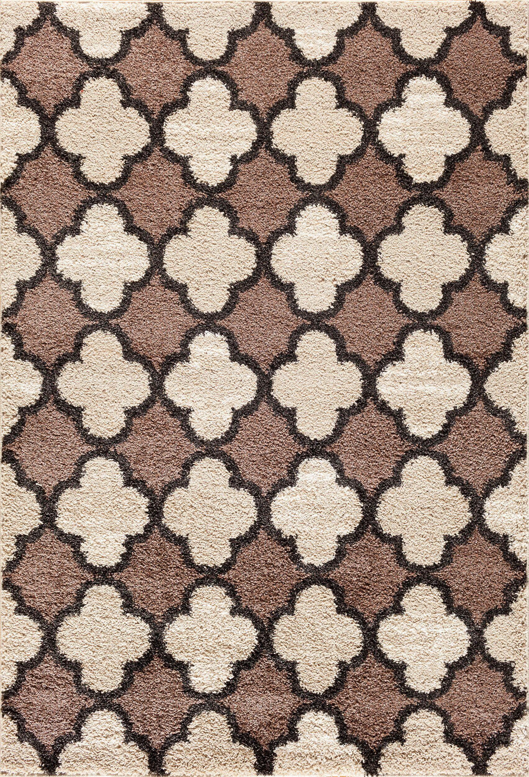 Hamilton Pearl/Cocoa Area Rug Rug Size: 5' x 7'3