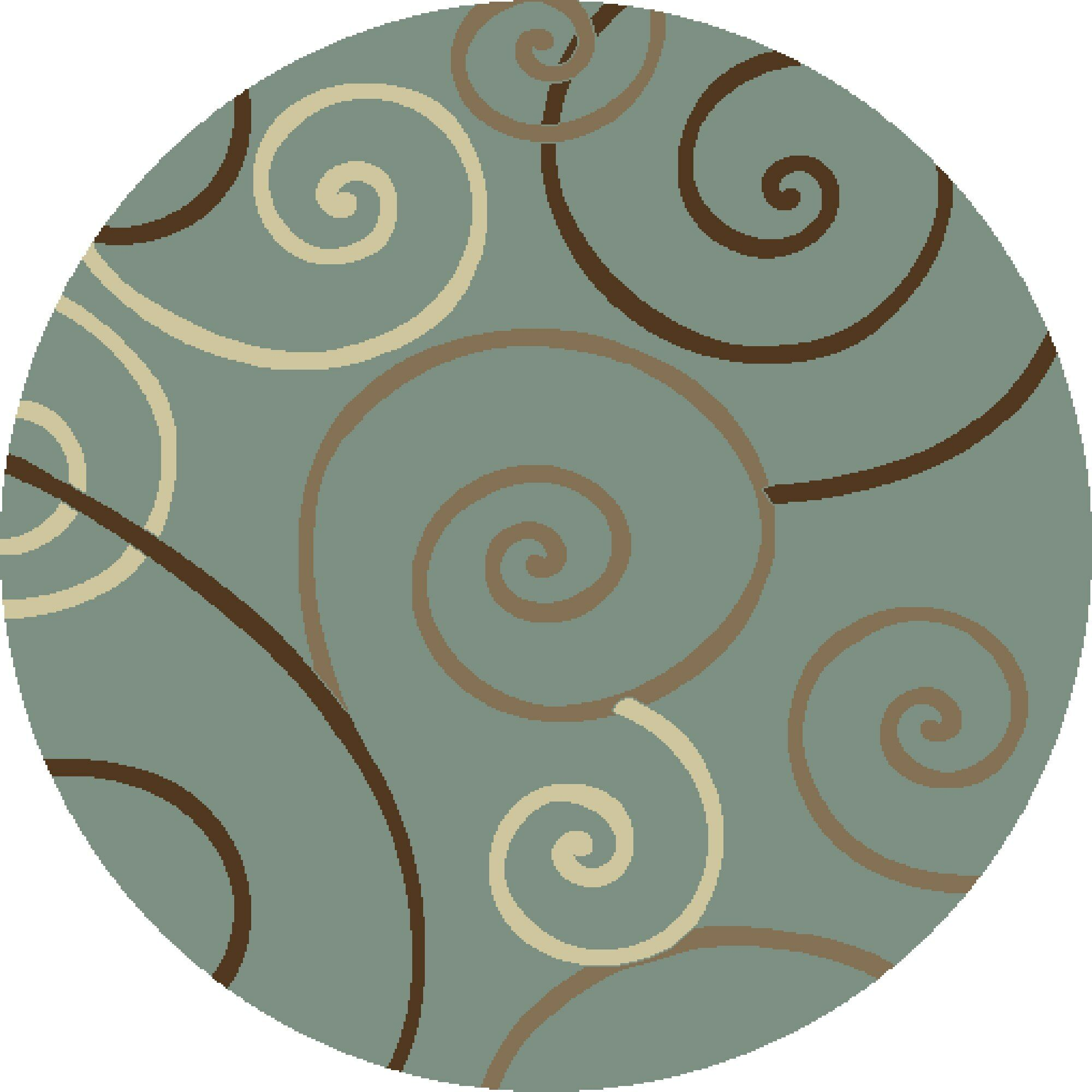 Chester Scroll Area Rug Rug Size: Round 7'10